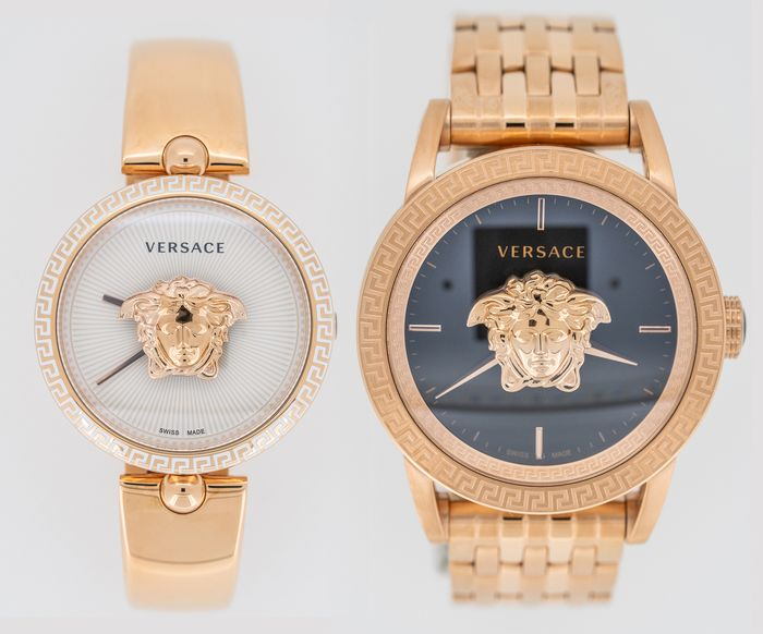 Versace - Palazzo Empire Couple Watches Rose Gold Swiss Made - VCO110017 and VERD00718 - Unisex - Brand New