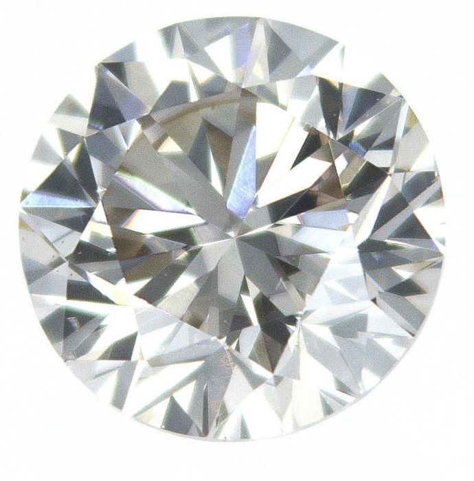 1 pcs Diamond - 0.82 ct - Round - S T GIA certificate - light brown - VS1