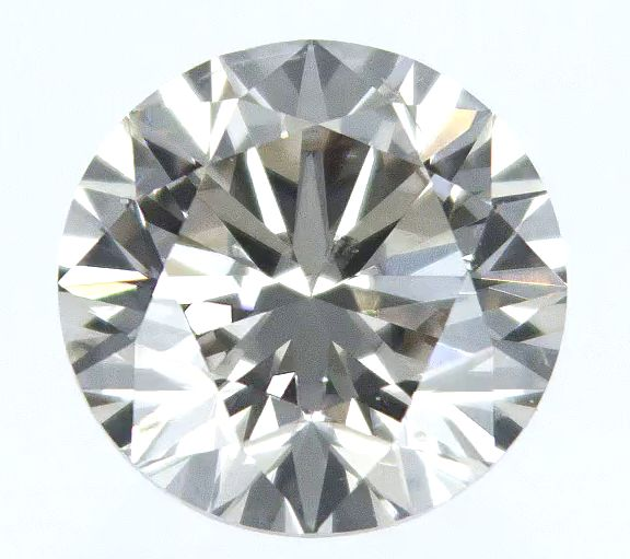 1 pcs Diamant - 0.81 ct - Rund - Q R GIA certificate - very light brown - SI1