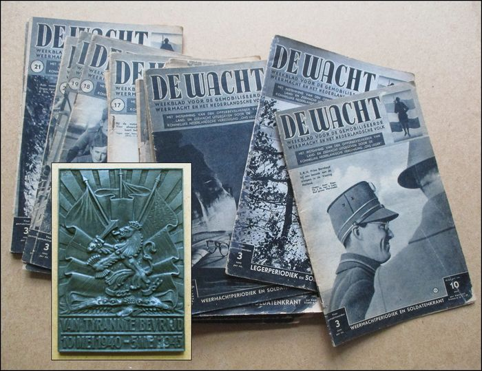 "Netherlands - Commemorative plaque + 20 issues of mobilization magazine ""The Guard"""