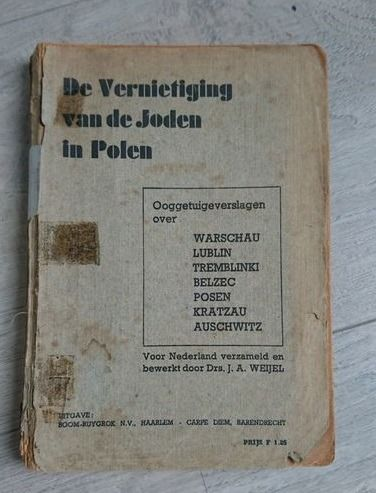 """Germany - """"Destruction of Jews in Poland"""" - First Eyewittness accounts Attrocities War Crimes - Extermination Camps in Poland - Susskind - Zyklon B - publshed in october - 1945"""