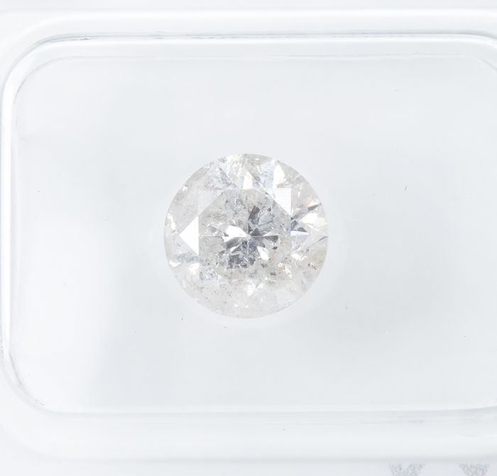 Diamond - 1.49 ct - Natural White - G color - I2  *NO RESERVE*