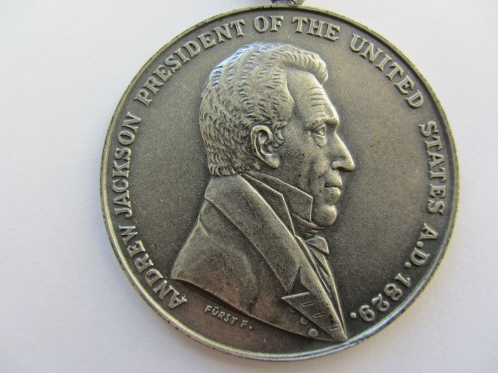 """USA - Medaille Andrew Jackson President of USA """"Peace and Friendship"""" 1829"""