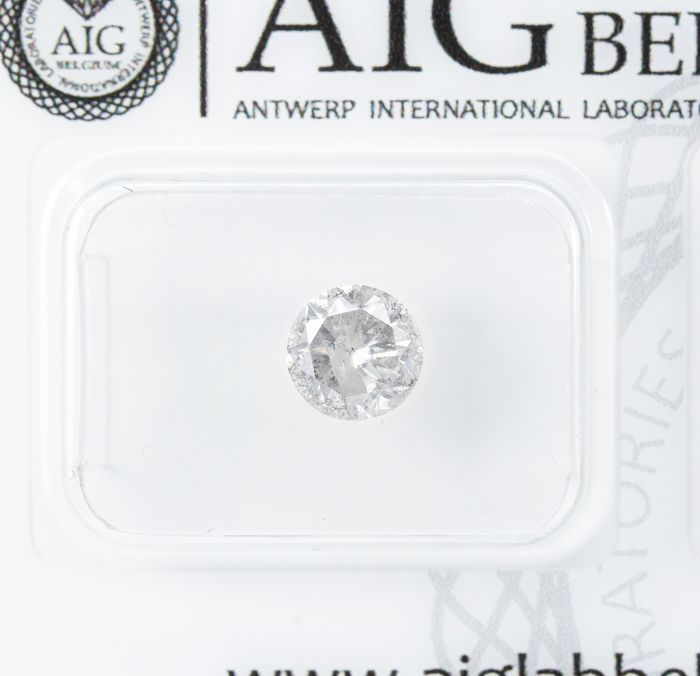 Diamant - 0.95 ct - Natural White - G Farbe - I2  *NO RESERVE*