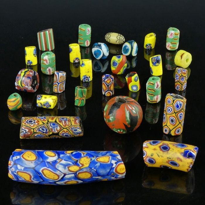 Beads (28) - Glass beads - West Africa