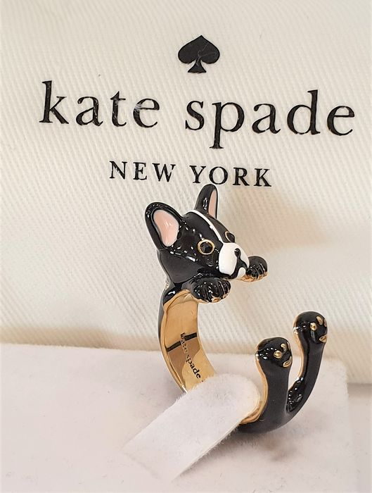 KATE SPADE New York 18kt gold plated Crystal PUPPY RING