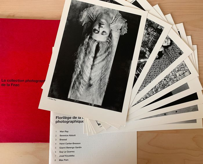 Man Ray, Cartier-Bresson, Brassaï, Koudelka, Abbot, Berengo Gardin & more - Portfolio of 8 prints; La Collection photographique de la FNAC, 1995