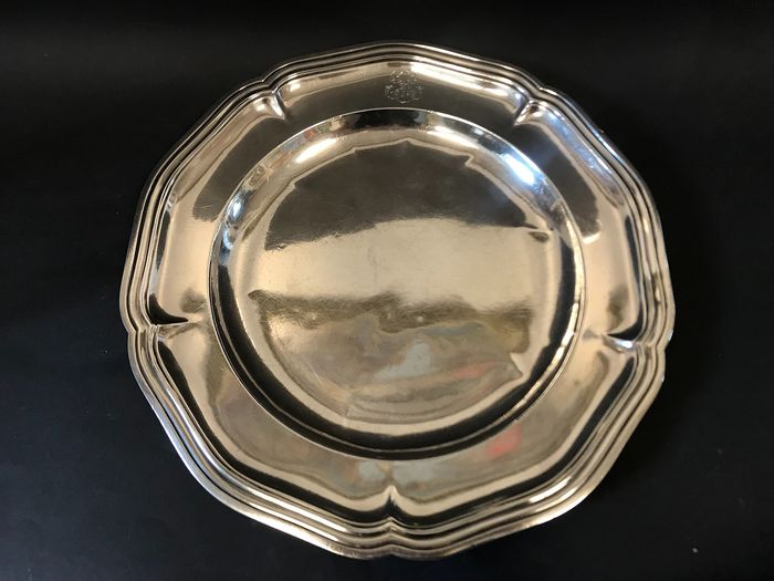 Dish (1) - .950 silver - Pierre Francois Augustin Turquet  - France - mid 19th century