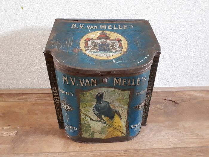 Blue Shopping Can Van Melle Confectionery Works Breskens - Aluminium