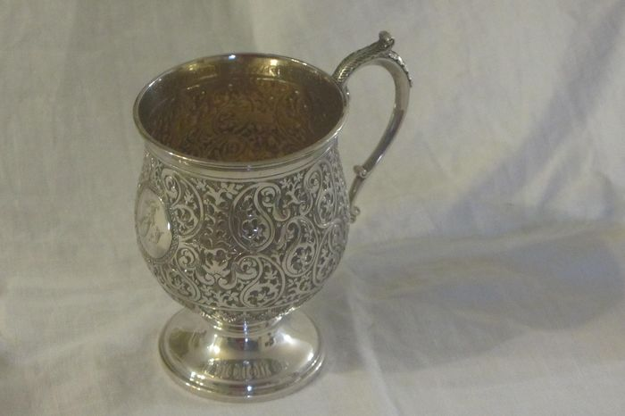 Goblet, Victorian - .925 silver - Mappin & Webb, London - England - 1896