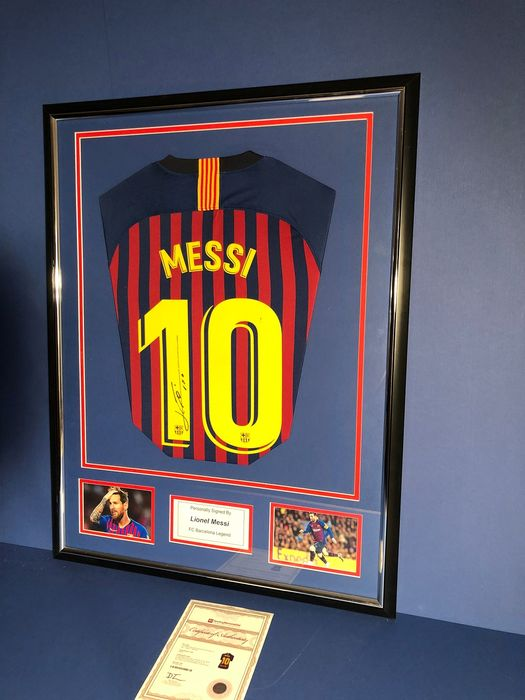 FC Barcelona - Spanish Football League - Lionel Messi - Jersey, Sign