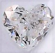 1 pcs Diamond - 1.00 ct - Heart - H - SI2