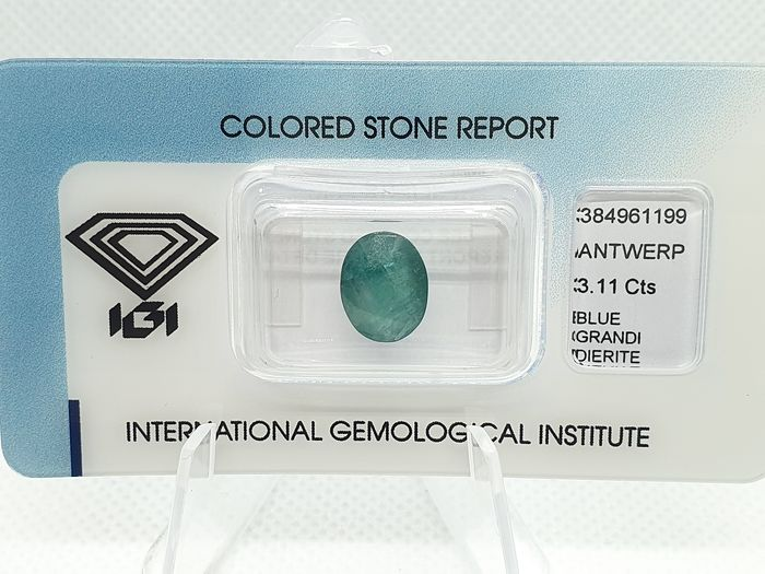 Green-Blue Grandidierite - 3.11 ct