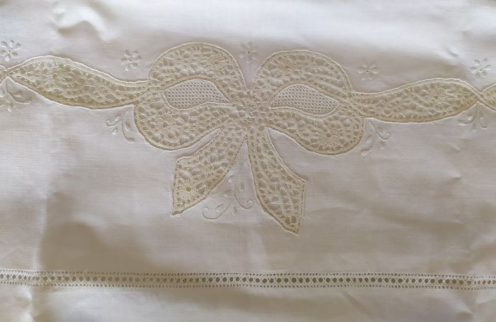 bed sheet (1) - Linen - 20th century