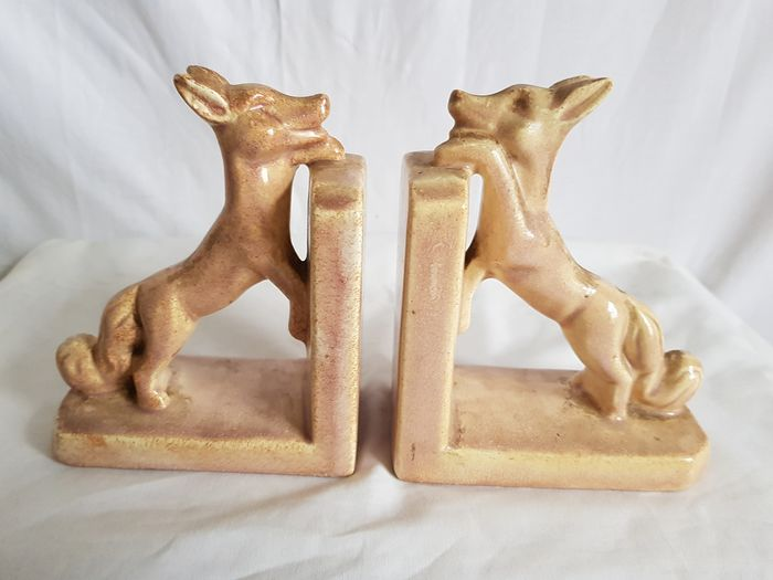 French bookends - dogs (2) - Earthenware