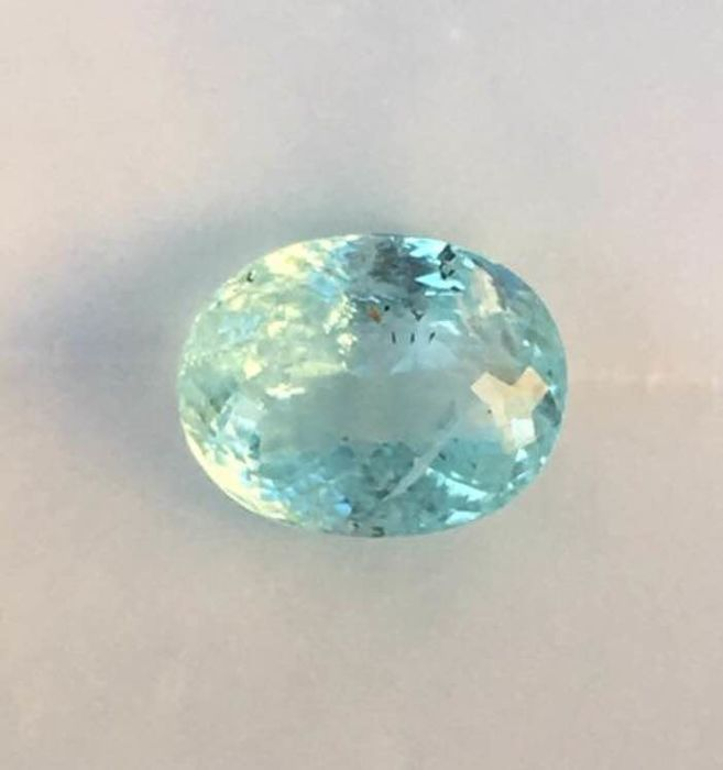Greenish Blue  Paraiba tourmaline  - 3.94 ct