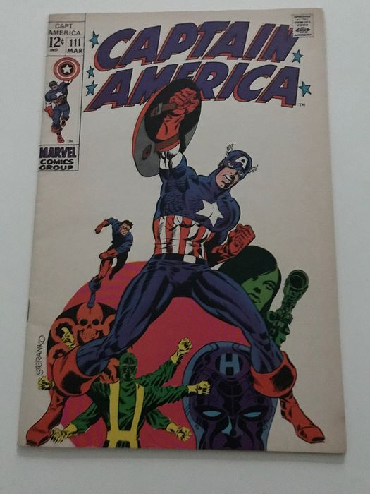 Captain America 111 - - Marvel Comics - Geheftet - Erstausgabe - (1969)