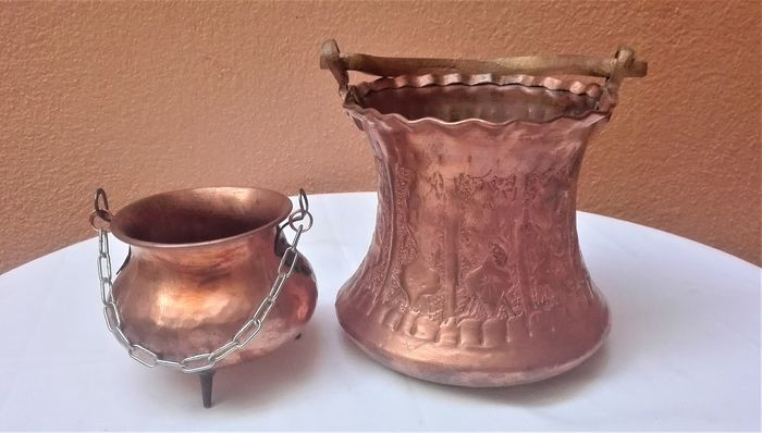 Bucket - Red Copper Pot - Copper