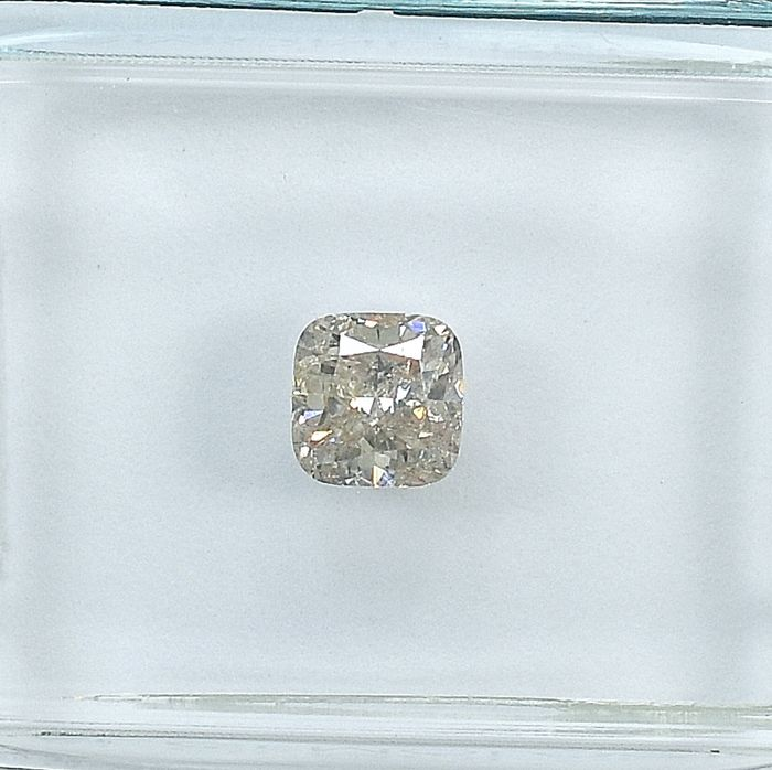 Diamant - 0.51 ct - Quadrat - Natural Fancy Light Pinkish Brown - I1 - NO RESERVE PRICE