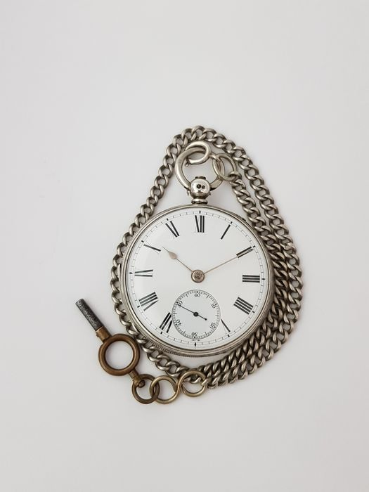 1867  - England London - Henry William Griffin - Silver Fusee Pocket Watch -  - Homme - 1850-1900