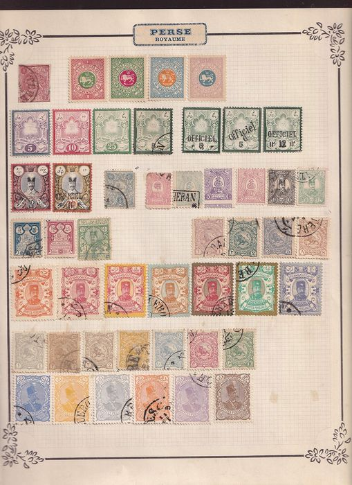 Iran 1875/1940 - Fine early collection including revenues