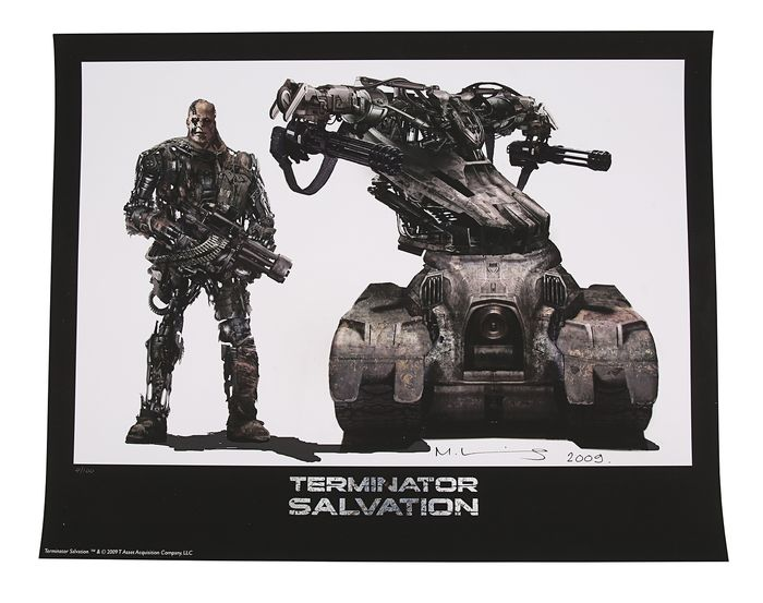 Terminator 4: Salvation (2009) - Œuvre d'art, Limited Edition Concept Art Print - T1 and T600 14628