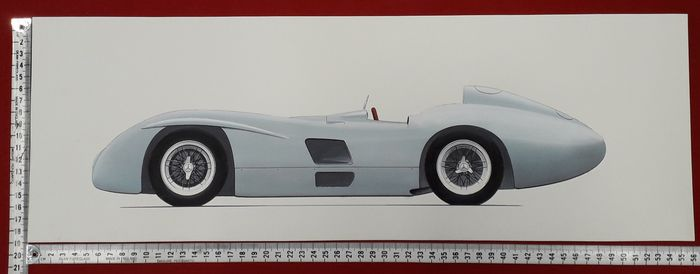 Original drawing - Mercedes-Benz W 196 R - 1954 - 2017