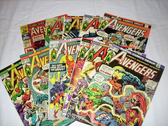 Marvel - Stan Lee presents: The mighty Avengers 126, 127, 129, 131, 132, 134-138 + King Size Special 1 - 10 issues - Taschenbuch - Erstausgabe - (1967/1975)