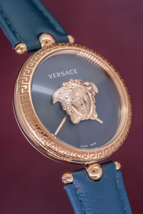 Versace - Palazzo Empire Rose Gold Green leather strap  Swiss Made  - VECQ00318 - Dames - Brand New