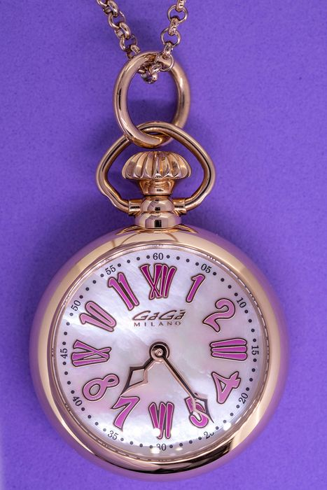 """GaGà Milano - Necklace Watch Pink 31MM Rose Gold Necklace - 7001.01 """"NO RESERVE PRICE"""" - Dames - Brand New"""