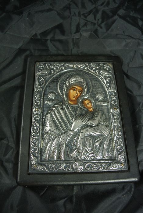 Icon (1) - .925 silver, Wood