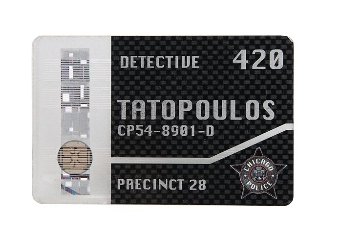 I, Robot (2004) - Will Smith  - Chicago Police Detective Pass used in the movie -  5536