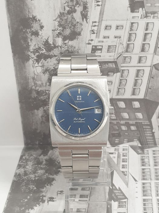 """Zenith - Port Royal Automatic Date - """"NO RESERVE PRICE""""  - Ref. 01.0010.490/495 - Homme - 1970-1979"""