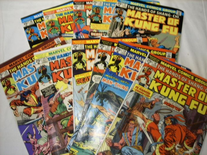 Marvel - Stan Lee presents: The hands of Shang-Chi, Master Of Kung Fu 18-23, 26-28, 30-32 - 12 issues - Taschenbuch - Erstausgabe - (1974/1975)