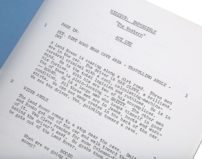 """Mission: Impossible (TV Series) - Original Production Used Script - """"The Western"""" (season 7, Episode 21)  5027"""