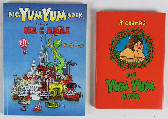 Big Yum Yum Book + The Yum Yum Book - door R. Crumb - 1x Hardcover mit Schutzumschlag + 1x Softcover - (1975/1995)