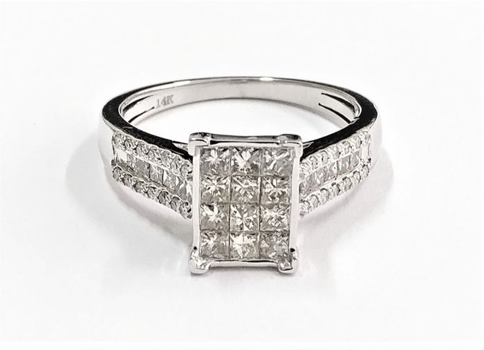 14 karaat Witgoud - Ring - 1.23 ct Diamant