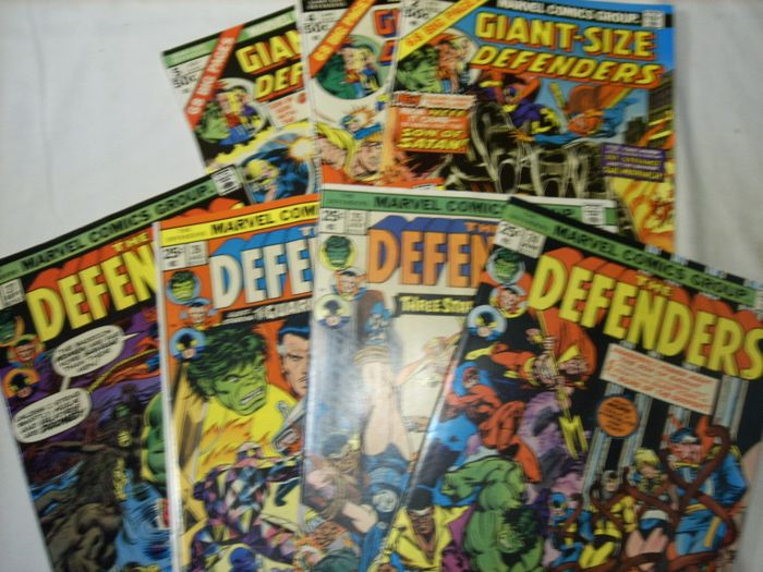 Marvel - Stan Lee presents: The dynamic Defenders 24-27, Giant-Size: 2,4,5 - The Amazing Spider-Man 143-149 - 14 issues - Taschenbuch - Erstausgabe - (1975)