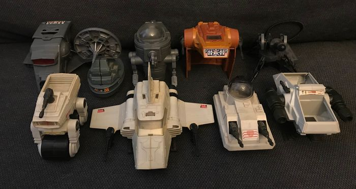 Star Wars - Nave espacial, Vehículo 9x Vintage Mini Rigs / Vehicles all complete and original