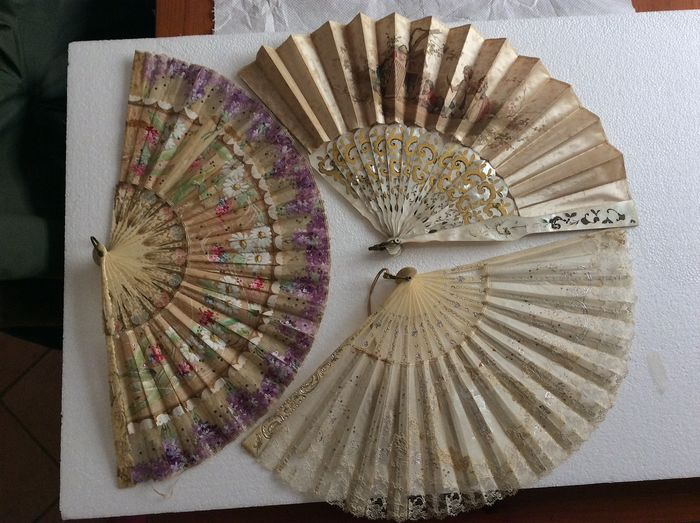 fans end 800 - Silk, Textiles - Early 19th century
