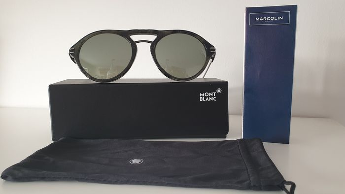 Montblanc - MB716S-98Q-523 Smoke mirrored ZEISS lenses  Sunglasses