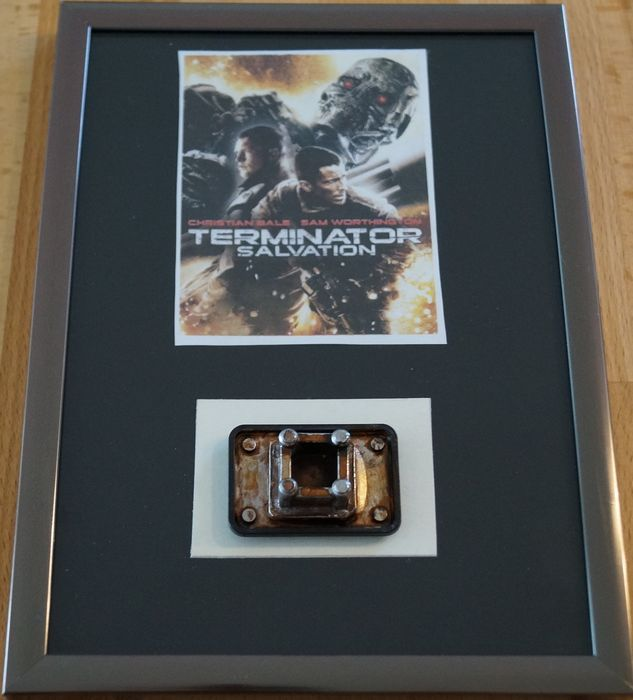 "Terminator Salvation (2009)  - Christian Bale - Prop ""FX part of a futuristic fighting machine"" - framed - with Coa"