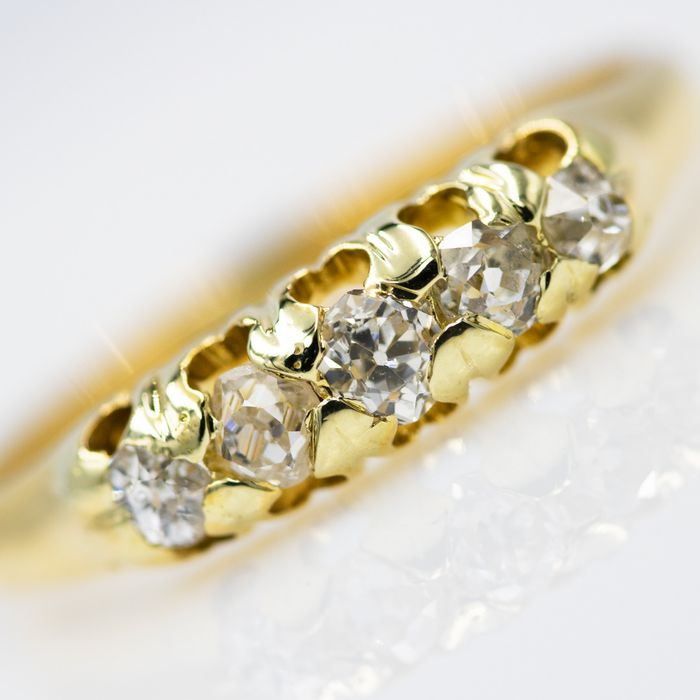 18 quilates Oro amarillo - Anillo - 0.28 ct Diamante