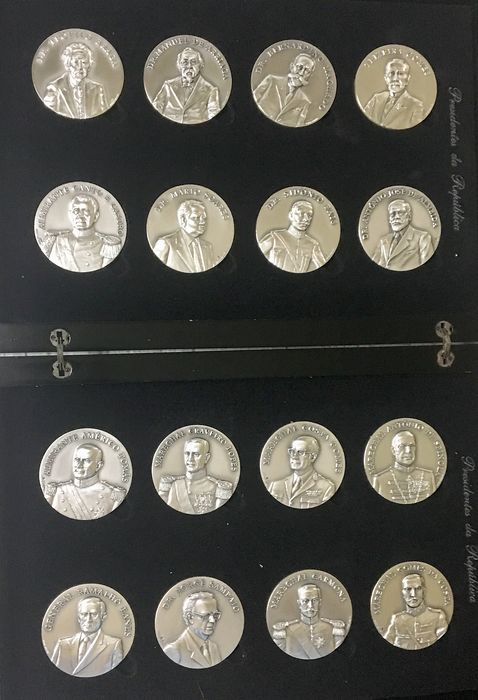 16 medals Portuguese Presidents  - .925 silver - Jorge Coelho - Portugal - 1999