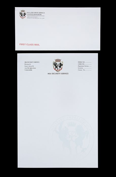 James Bond 007 - Die Another Day - MI6 Dressing Letter & Envelope - as seen on Moneypenny's desk in scene -  27219