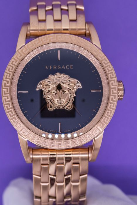 Versace - Palazzo Empire Watch Rose Gold tone Swiss Made - VERD00718 - Herren - Brand New