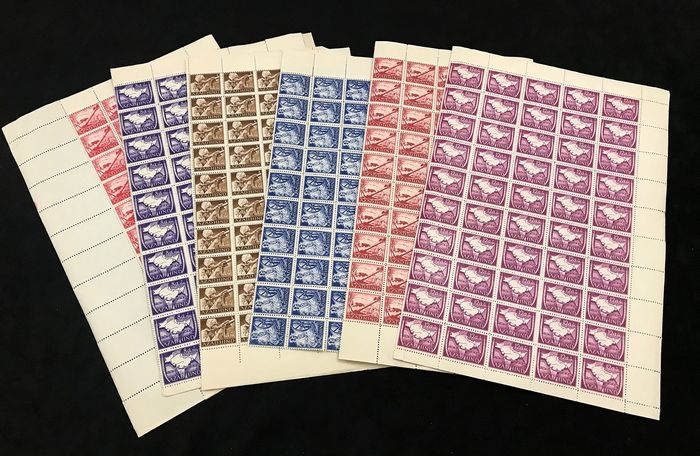Indien - Germany 1943 Free India Forces Azad Hind Sheets(600 Stamps) MNH