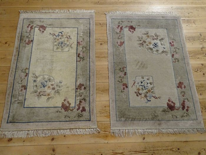 Paar China Teppich - Carpet - 95 cm - 63 cm