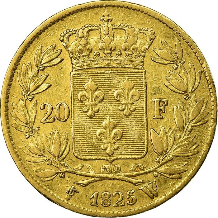 20 Francs 1825-W Charles X - Or
