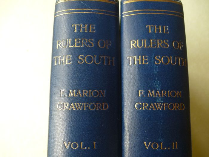 Francis Marian Crawford  - The rulers of the South : Sicily Calibria Malta : 2 volume set - 1900/1900